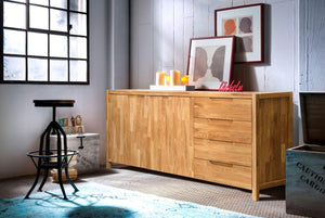 NordicStory Muebles de Madera Maciza Roble Natural Comoda Salon Dormitorio Nordico