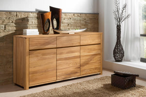 NordicStory Elsa Solid Wood Furniture Natural Oak Scandinavian Nordico Sideboard Chest of Drawers