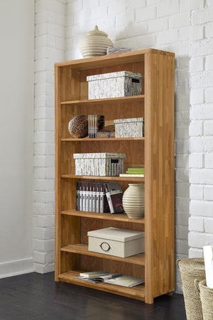 NordicStory Elsa Bookcase Wall Shelving Solid Wood Oak Natural Scandinavian Nordico Salon Office