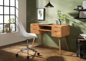 NordicStory Nordic Scandinavian Oak Solid Wood Desk