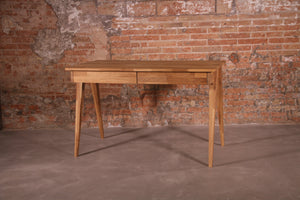 NordicStory Solid oak wood writing table