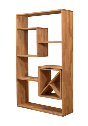 NordicStory Shelving Denmark 2 100 x 30 x 165 cm. Solid Wood Natural Oak