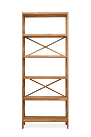 NordicStory Wall-mounted shelf Solid wood bookcase Nordic oak