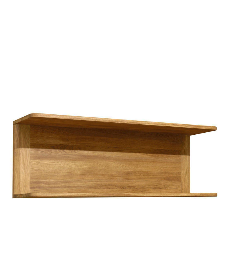 NordicStory Estante de pared de madera maciza de roble