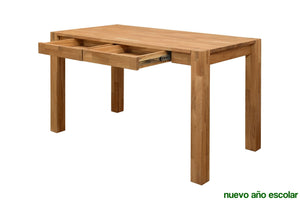 NordicStory Office Table Desk Solid Wood Oak