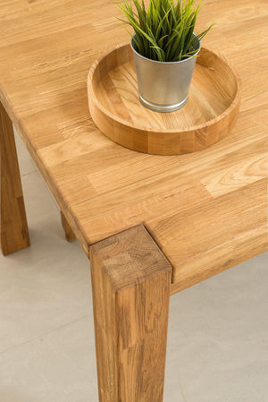 "NordicStory Extendable dining table in solid oak ""Mauritz 1"" 140/160/180 x 90 x 75 cm."