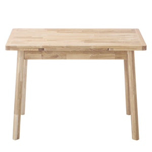 NordicStory Extending Nordic Scandinavian Oak Solid Wood Dining Table