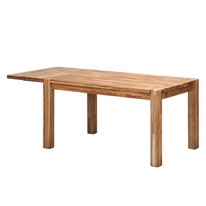 NordicStory Extending solid oak wood dining table