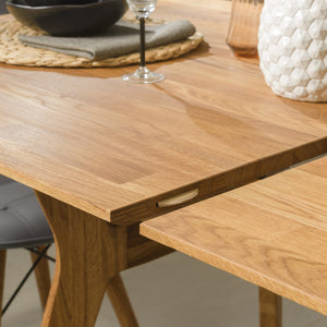 """NordicStory Extendable solid oak dining table """"Harold"""" 170-210 x 90 x 75 cm."""