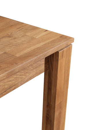 """NordicStory Dining table made of solid oak """"Mauritz 4"""" 120 x 80 x 75 cm. 140/180 x 90 x 75 cm."""