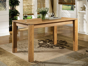 NordicStory Nordic rustic oak solid wood dining table