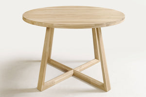 NordicStory Extendable Round Moby Dining Table Solid Wood Scandinavian Oak