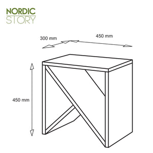 NordicStory Nightstand Denmark solid wood oak