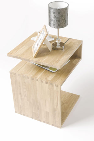 "NordicStory Solid oak side table ""Sofi"" 44 x 44 x 62 cm."