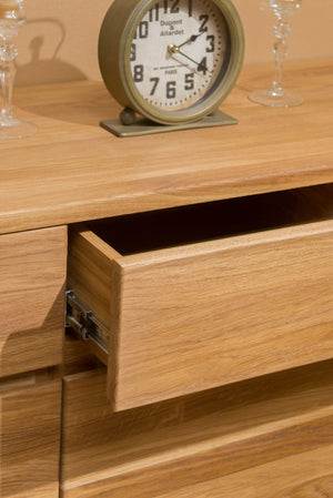 NordicStory Cabinet Sideboard Drawer Solid Wood Nordic Oak