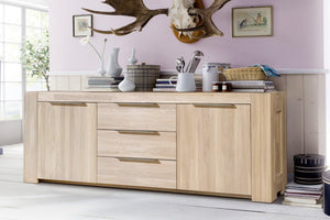 NordicStory Furniture Sideboard Table Solid Oak Natural Salon Nordico Scandinavian