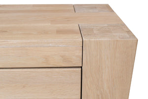 NordicStory Comfortable Chest of Drawers Solid Wood Nordic Scandinavian Oak