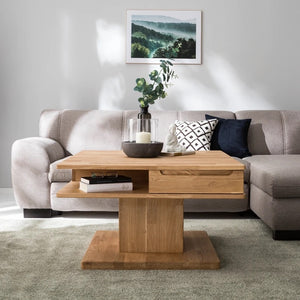 NordicStory Solid oak wood coffee table
