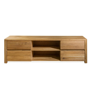 NordicStory Elsa TV cabinet 160 x 44 x 47 cm. Solid Oak Wood