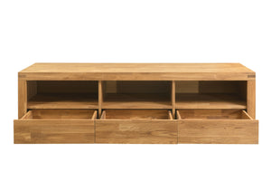 NordicStory Mueble de TV Madera Maciza Roble Natural Escandinavo Nordico