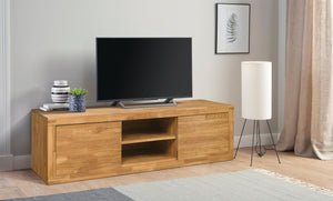 NordicStory TV Stand Solid Wood Natural Oak Scandinavian Nordico