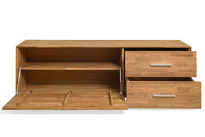 NordicStory Solid wood TV cabinet Scandinavian oak