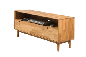 NordicStory Mueble de TV de madera maciza de roble nordico
