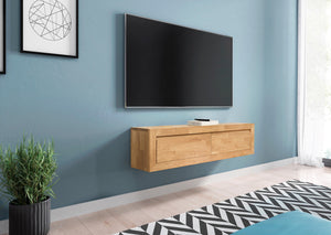 NordicStory Floating solid oak wood TV cabinet