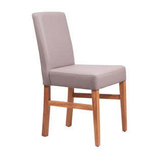 NordicStory Dining chair kitchen solid wood oak synthetic leather