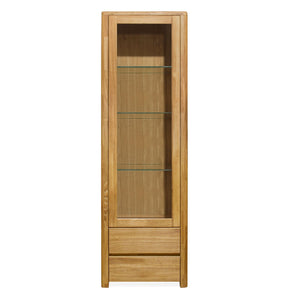 NordicStory Showcase with Glass Solid Wood Nordic Scandinavian Oak