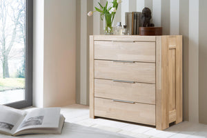 Nordic oak solid wood chest of drawers