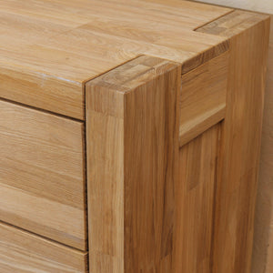 Scandinavian style solid oak chest of 4 drawers