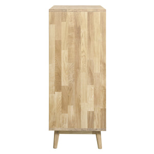 Solid oak rustic style chest of drawers