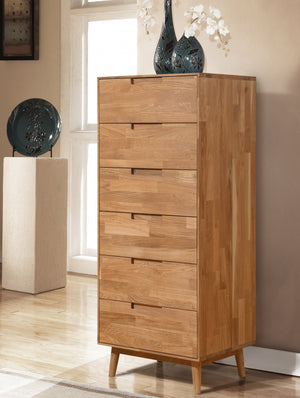NordicStory Solid Wood Nordic Oak Chest of Drawers