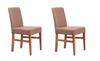 NordicStory 2 Pack Dining Chairs Cardiff Solid Wood Scandinavian Nordic Oak