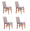Copy of NordicStory 4-Pack Cardiff Dining Chairs Solid Oak Nordic Design