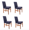 Copy of NordicStory Pack de 4 Sillas de comedor Cardiff madera maciza roble diseno nordico