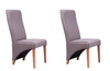 NordicStory 2 Pack Dining Chairs Manchester Solid Wood Scandinavian Nordic Oak