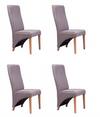 NordicStory 4 Pack Dining Chairs Manchester Solid Wood Scandinavian Nordic Oak