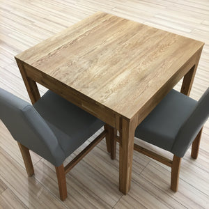 "NordicStory Extendable solid oak dining table ""Marsi"" 85-125 x 80 x 75 cm."