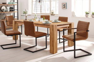 """NordicStory Solid oak wood dining table """"Mauritz 3"""" 180 x 90 x 75 cm."""