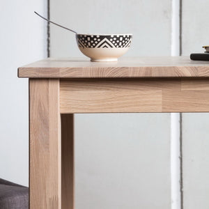 Solid oak wood table dining room office