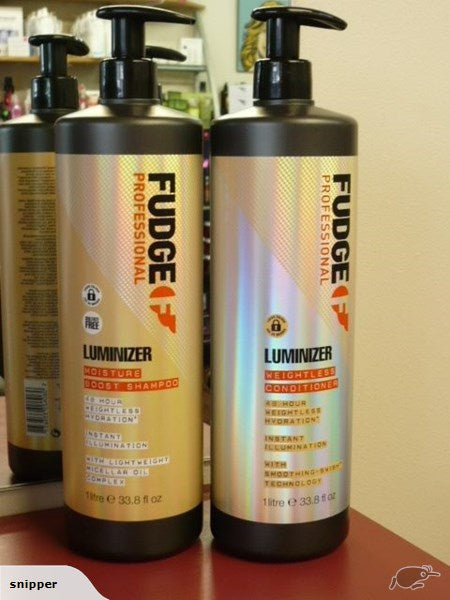 FUDGE Luminizer Moisture Boost LITRE Shampoo & Conditioner DUO COLORED HAIR