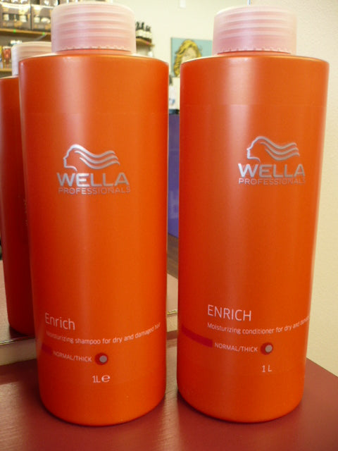 Wella Professional Enrich shampoo and conditioner DUO BOTH 1 LITRE EACH