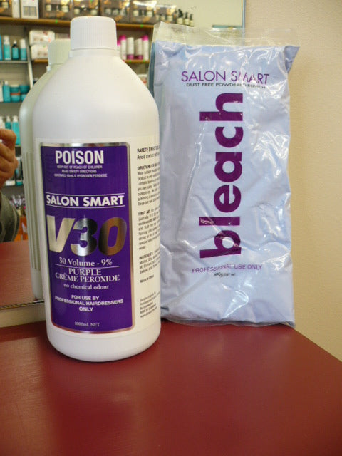Salon Smart Bleach | Professional Original Formula Purple Bleach 500g + 30 VOL
