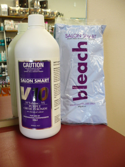Salon Smart Bleach | Professional Original Formula Purple Bleach 500g + 10 VOL