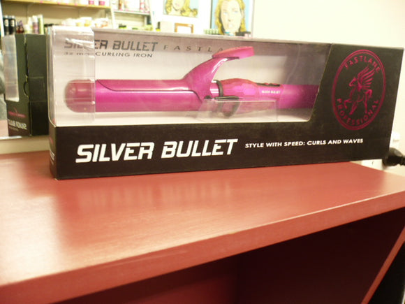 SILVER BULLET FASTLANE PINK 32MM CURLING IRON