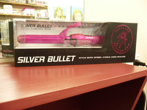 SILVER BULLET FASTLANE PINK 25MM CURLING IRON