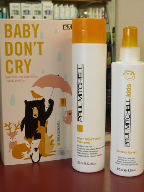 PAUL MITCHELL BABY DON'T CRY SHAMPOO & TAMING SPRAY DUO PACK