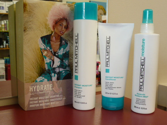 PAUL MITCHELL INSTANT MOISTURE SHAMPOO & CONDITIONER AWAPUHI MIST TRIO PACK